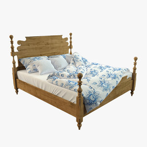3d model cannonball bed