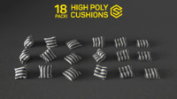 18 cushion pack 3d model