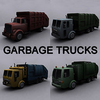 3ds max ready garbage truck
