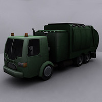ready garbage truck 3d model
