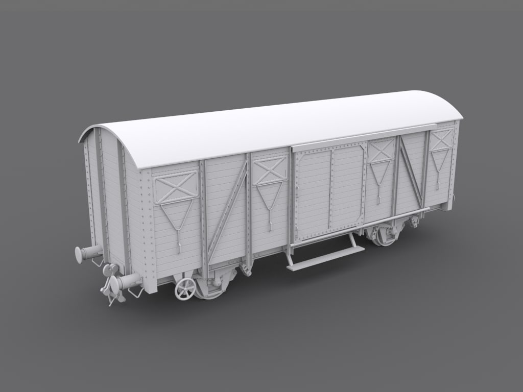 wagon sncf 3d model