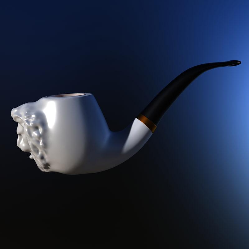 3d model of tobacco pipe