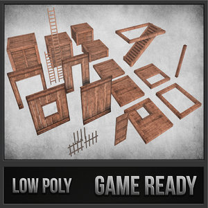 survival wood crafting kit 3d model