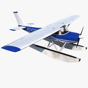 cessna 150 seaplane 3d model