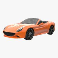 generic sport roadster 3d model