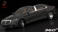 mercedes-benz maybach s600 2015 3d dwg