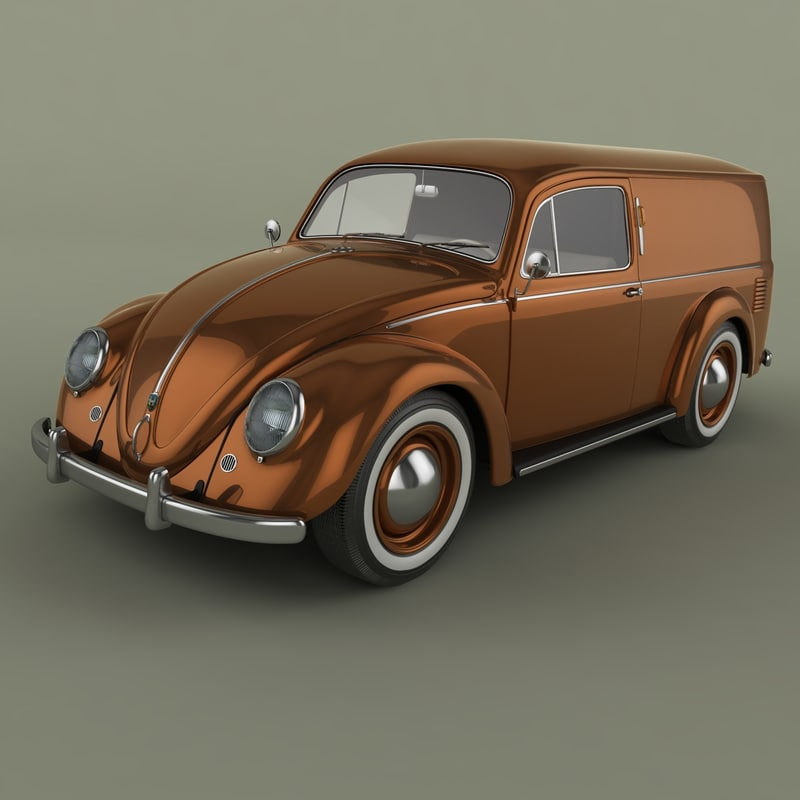 beetle van 3d model