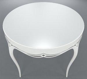 3d harper white table 76-0125 model