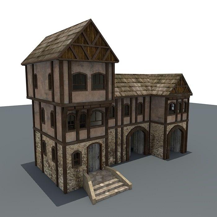 obj medieval house