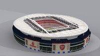 arsenal emirates arena 3d model