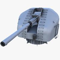 3d model 100mm gun