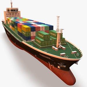3d model cargo ship