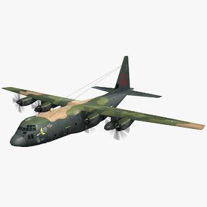 flight mode gunship lockheed c-130 3d max