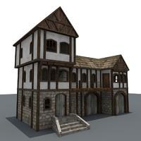 medieval house 3d c4d