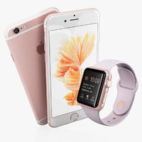 3d iphone 6s rose gold model