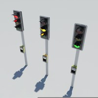 traffic lights 3d max