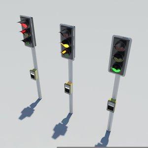 traffic lights 3d max
