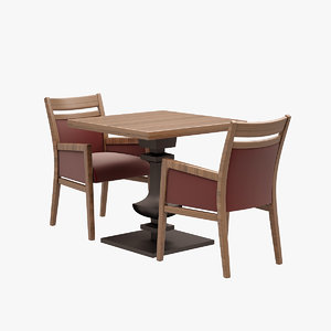 3d restaurant dinner set model