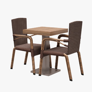 3d model of cafe dinner set