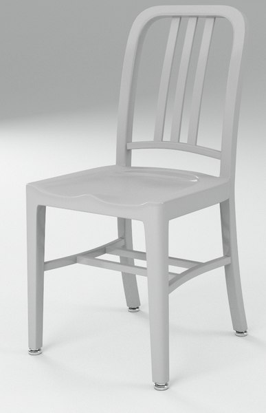 navy chair emeco 3d c4d