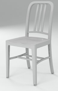 navy chair emeco 3d c4d
