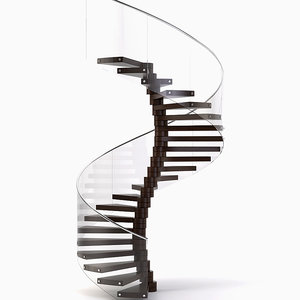 spiral staircase stair 3ds