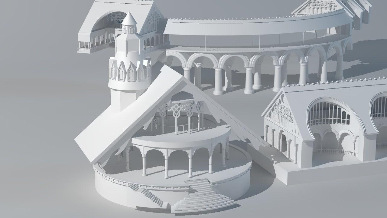 lord rings 3d model
