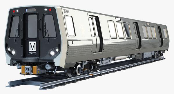 3d model wmata 7000 metro train
