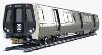 WMATA 7000 Metro Train
