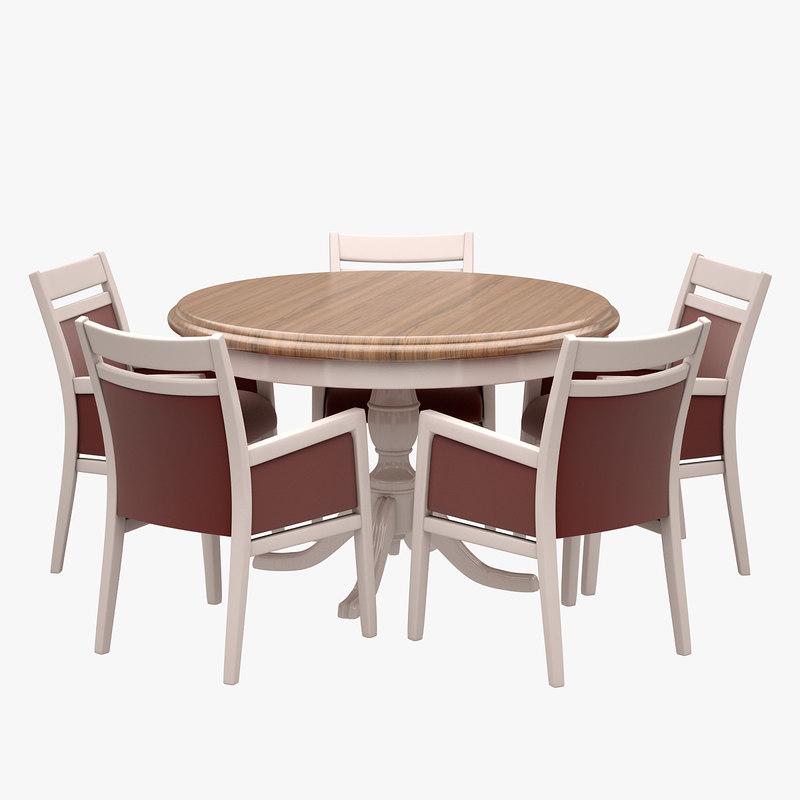 3d model restaurant dinner set
