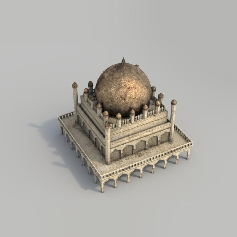 buildings arabian city - 3d model