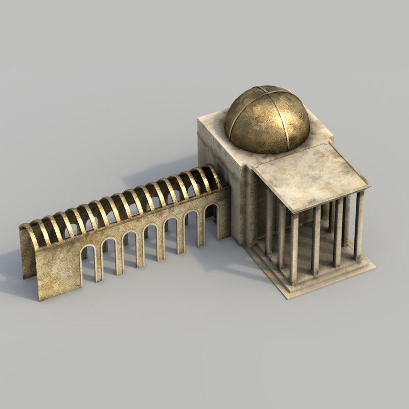 buildings arabian city - 3d 3ds