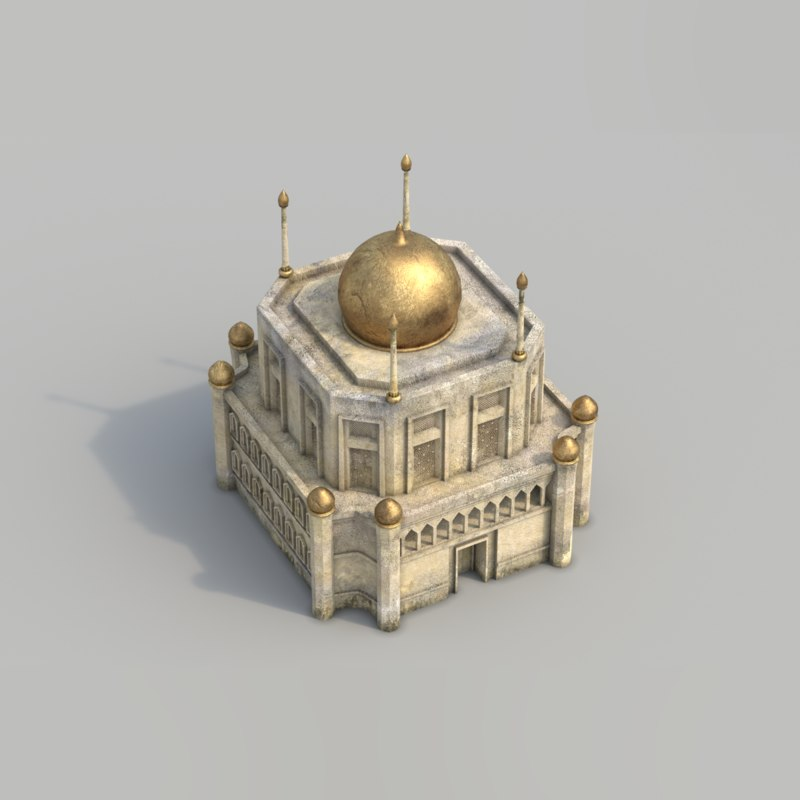 3ds max buildings arabian city -