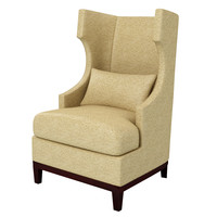 3d model wing chair r
