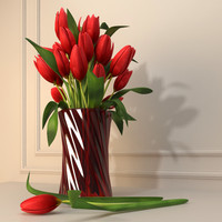 max red tulips flower