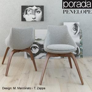 3d porada penelope chair