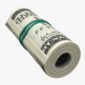 3d dollar roll model