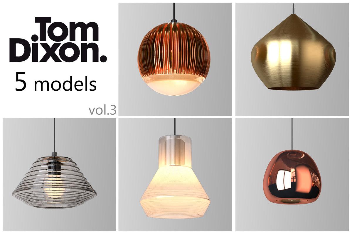 tom dixon lighting set 3d model