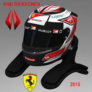 3d model kimi raikkonen helmet 2015