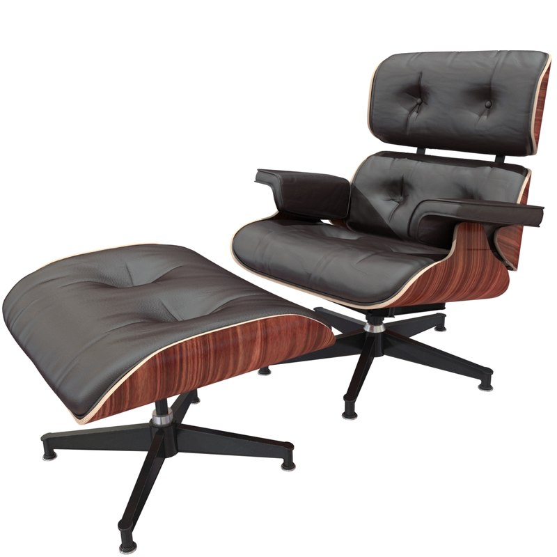 3d Max Charles Eames Lounge Chair