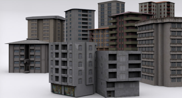 pro building mega pack 3d model