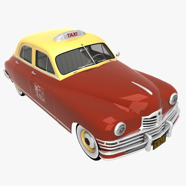 packard 1948 taxi cab obj