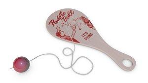 c4d paddle ball