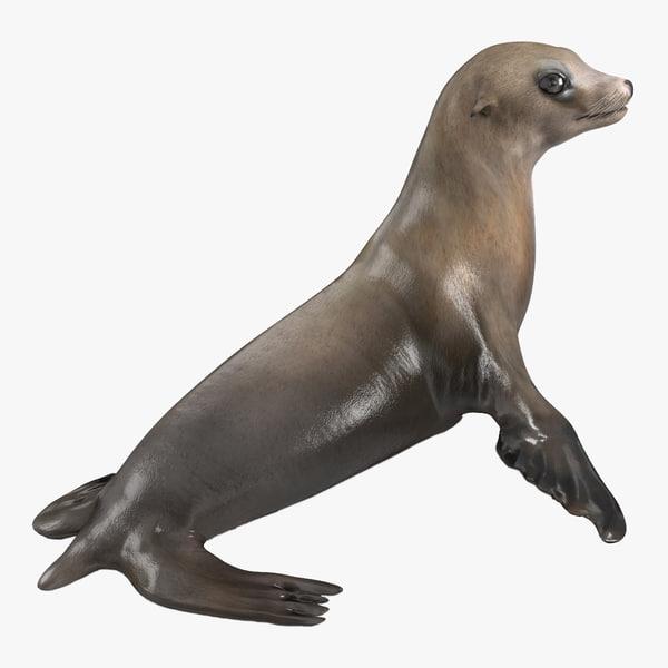 sea lion pose 2 3d 3ds