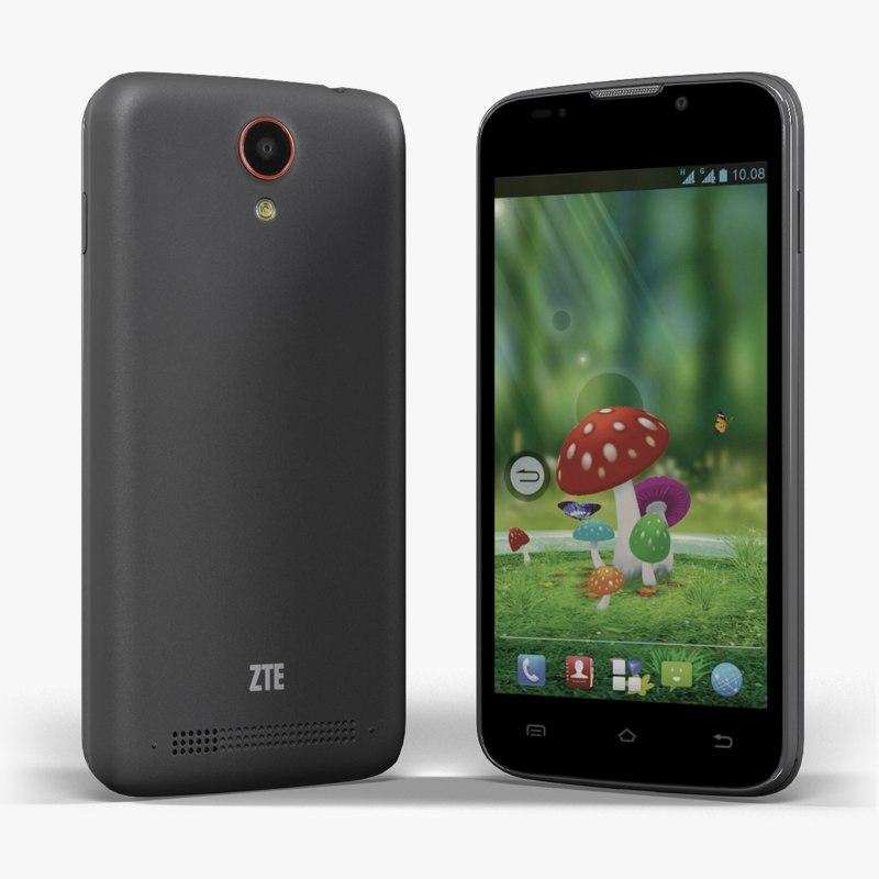 3d model smartphone zte leo m1