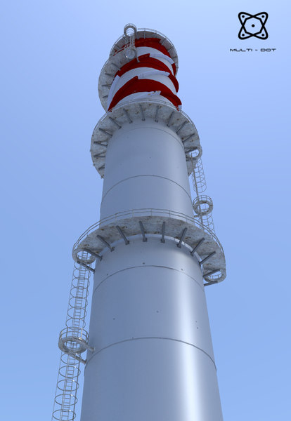 industrial chimney 3ds