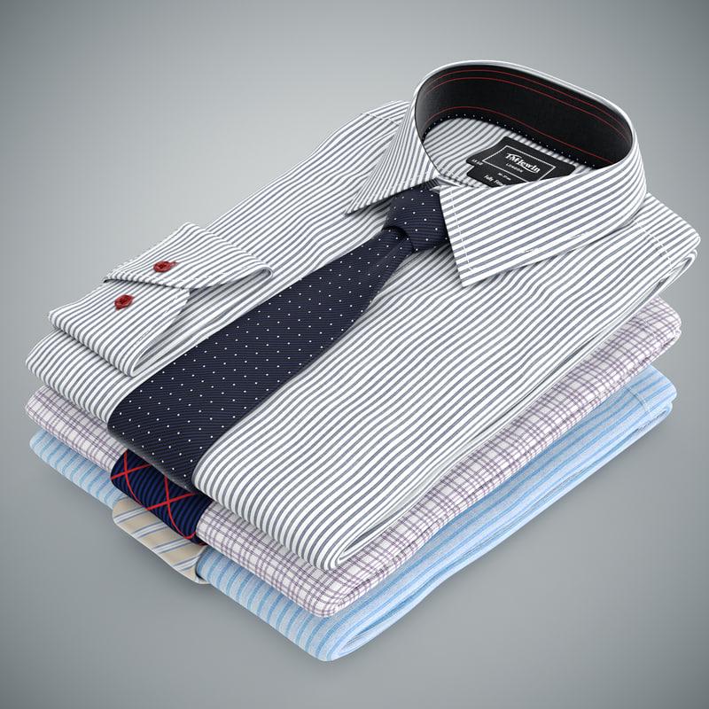 max shirts stacked ties