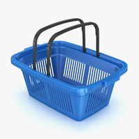 plastic shopping basket 3d max