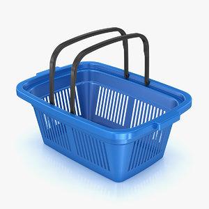 plastic shopping basket 3d max
