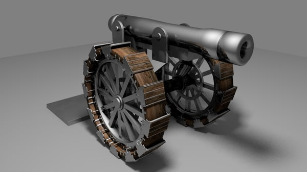 3d model field cannon